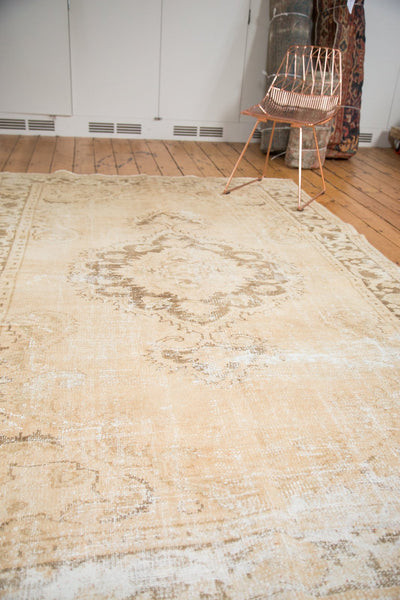 Vintage Distressed Oushak Carpet / Item 4643 image 6
