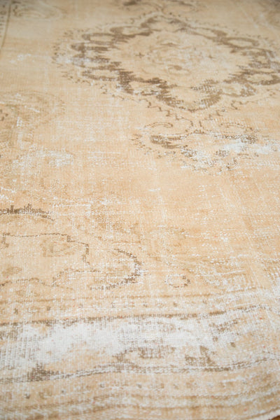 Vintage Distressed Oushak Carpet / Item 4643 image 7