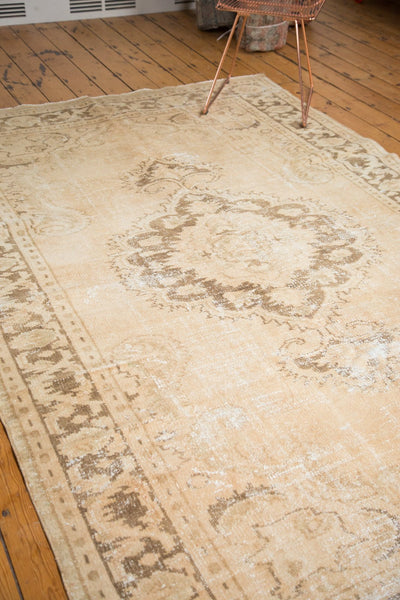Vintage Distressed Oushak Carpet / Item 4643 image 8
