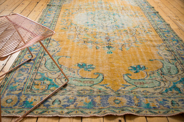 Vintage Distressed Oushak Carpet / Item 4645 image 5