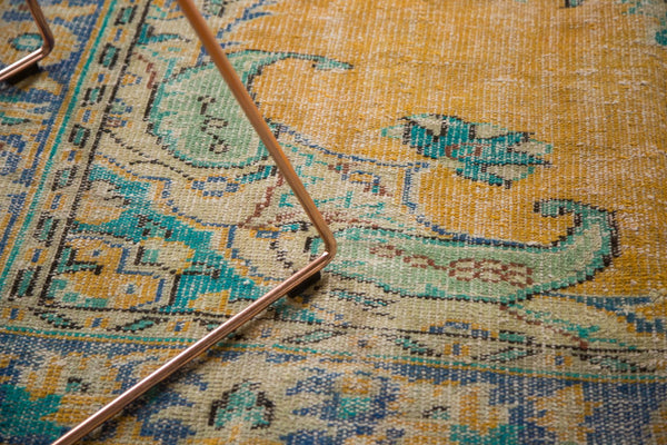 Vintage Distressed Oushak Carpet / Item 4645 image 6