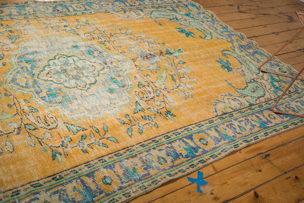 Vintage Distressed Oushak Carpet / Item 4645 image 7