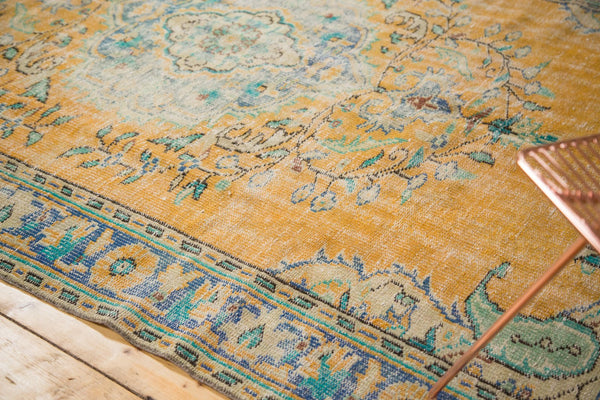 Vintage Distressed Oushak Carpet / Item 4645 image 9