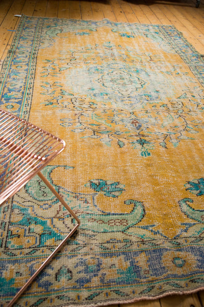Vintage Distressed Oushak Carpet / Item 4645 image 10