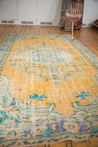 Vintage Distressed Oushak Carpet / Item 4645 image 11