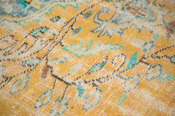 Vintage Distressed Oushak Carpet / Item 4645 image 14