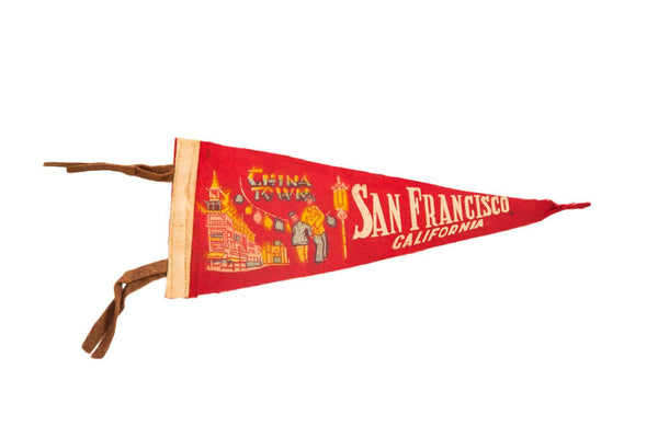 San Francisco China Town Felt Flag Banner Pennant