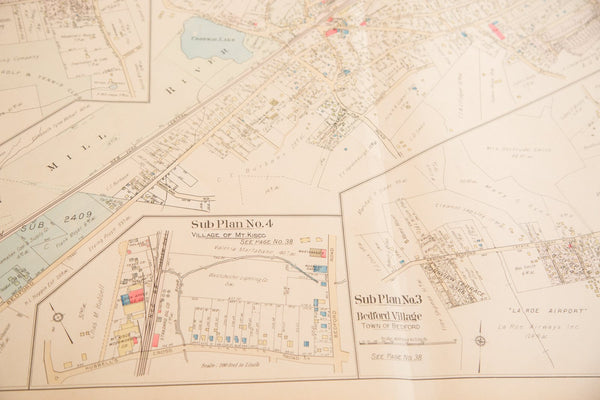 Vintage 1930s Hopkins Bedford Village NY Map