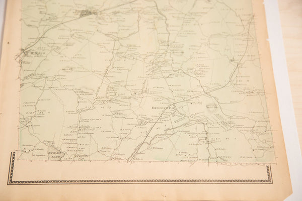 Antique Beers Bedford NY Atlas Map