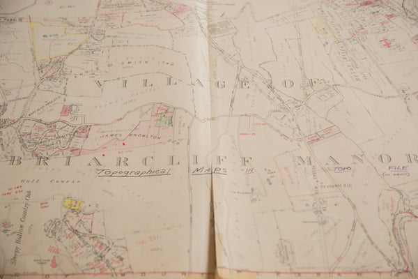 Vintage 1930s Hopkins Map of Briarcliff Manor NY