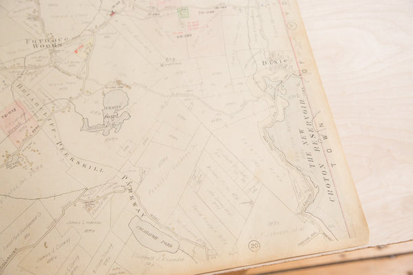 Vintage Hopkins Map of Town of Cortlandt NY