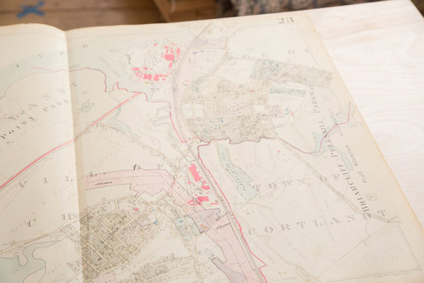 Vintage Hopkins Map of Town of Cortlandt NY Village of Buchanan