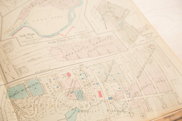 Vintage Hopkins Map of Village of Peekskill