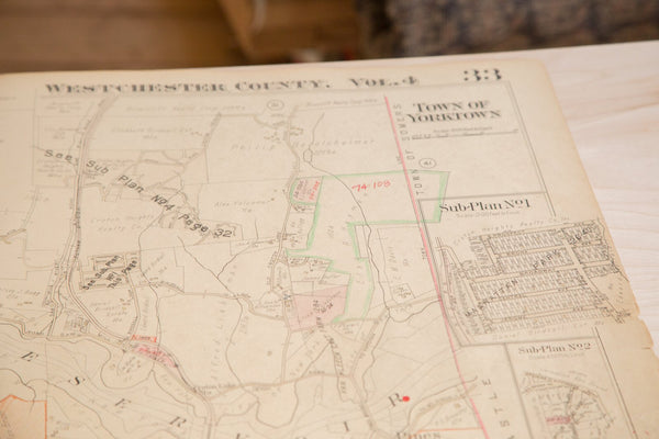 Vintage Hopkins Map of Kitchawan And Town of Yorktown