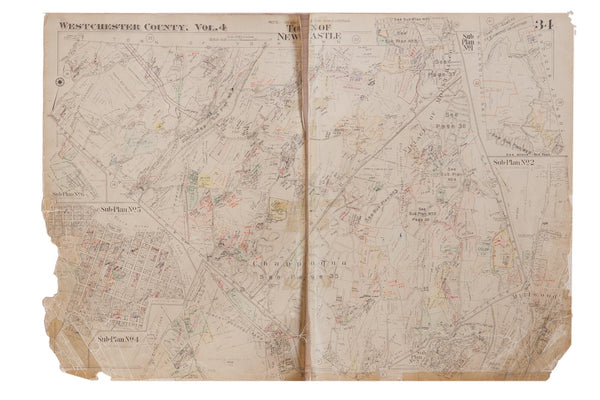 Vintage Hopkins Map of New Castle And Chappaqua