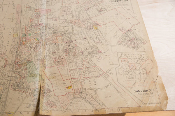 Vintage Hopkins Map of Chappaqua