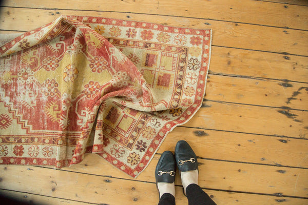 Vintage Distressed Oushak Rug / Item 4726 image 2