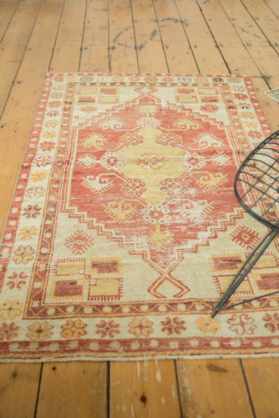 Vintage Distressed Oushak Rug / Item 4726 image 3