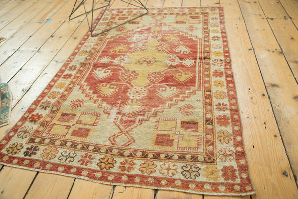 Vintage Distressed Oushak Rug / Item 4726 image 6
