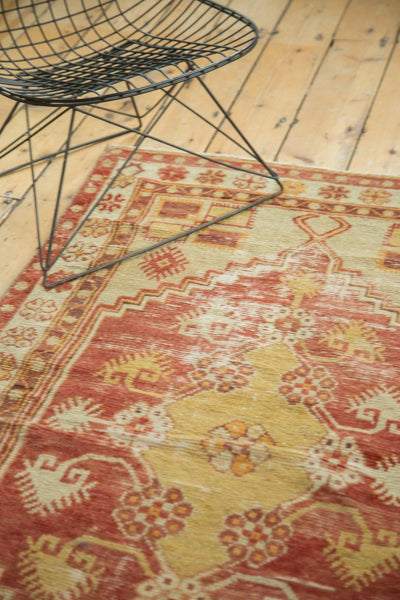 Vintage Distressed Oushak Rug / Item 4726 image 7