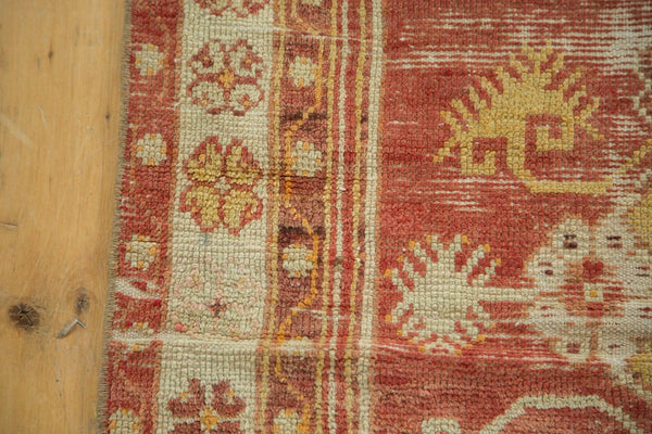 Vintage Distressed Oushak Rug / Item 4726 image 10