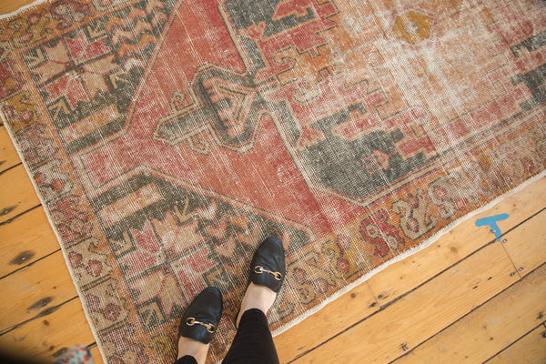 Vintage Distressed Oushak Rug Runner / Item 4728 image 2