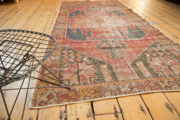 Vintage Distressed Oushak Rug Runner / Item 4728 image 3