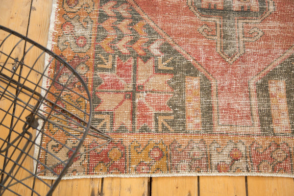 Vintage Distressed Oushak Rug Runner / Item 4728 image 4