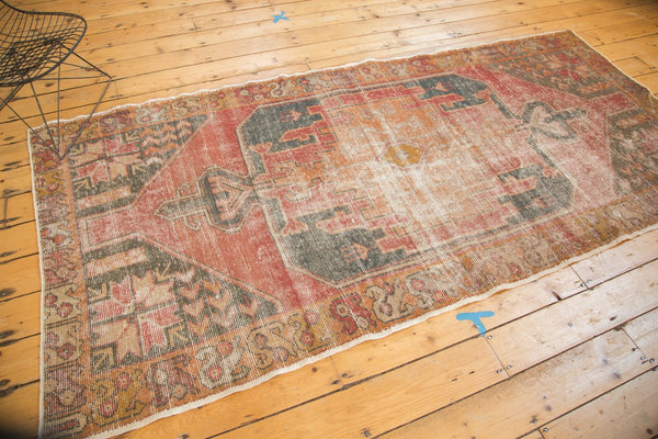 Vintage Distressed Oushak Rug Runner / Item 4728 image 5