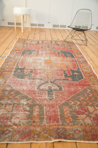 Vintage Distressed Oushak Rug Runner / Item 4728 image 6