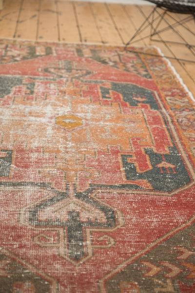 Vintage Distressed Oushak Rug Runner / Item 4728 image 7