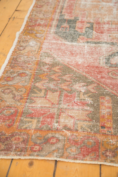 Vintage Distressed Oushak Rug Runner / Item 4728 image 8
