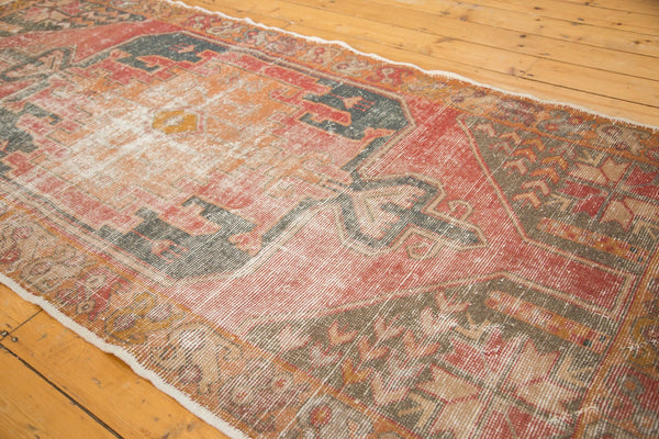 Vintage Distressed Oushak Rug Runner / Item 4728 image 9