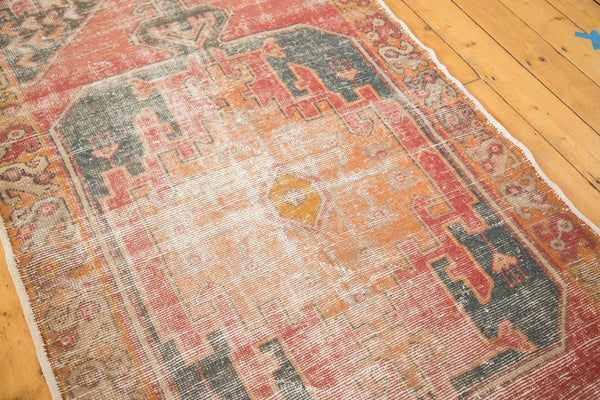 Vintage Distressed Oushak Rug Runner / Item 4728 image 11
