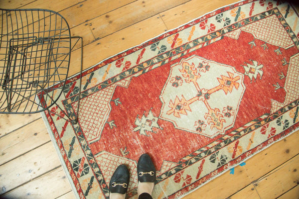 Vintage Distressed Oushak Rug / Item 4736 image 2