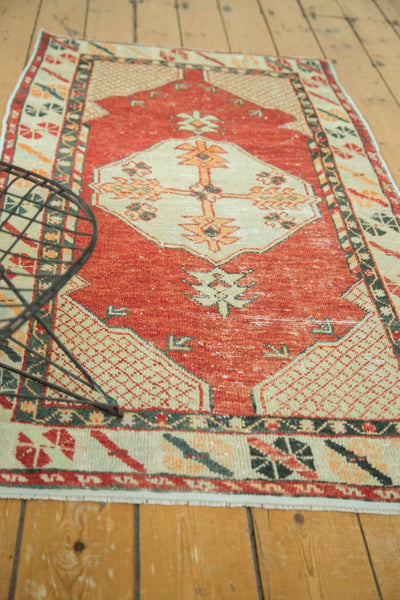 Vintage Distressed Oushak Rug / Item 4736 image 3