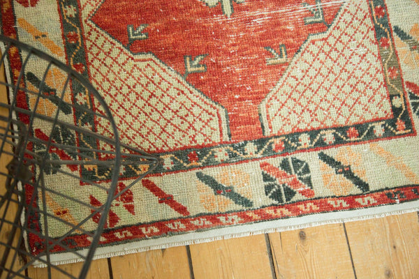 Vintage Distressed Oushak Rug / Item 4736 image 4