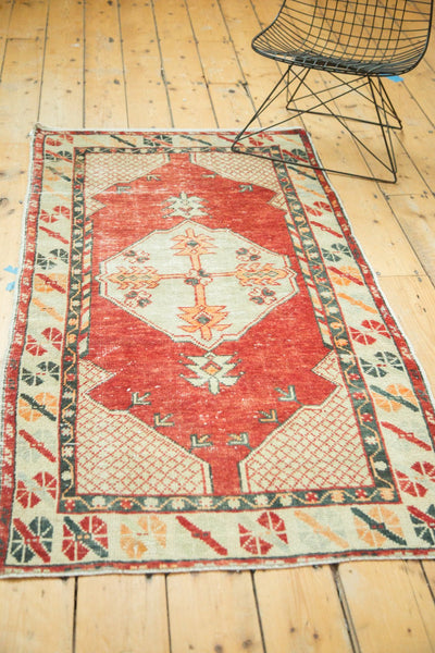 Vintage Distressed Oushak Rug / Item 4736 image 6