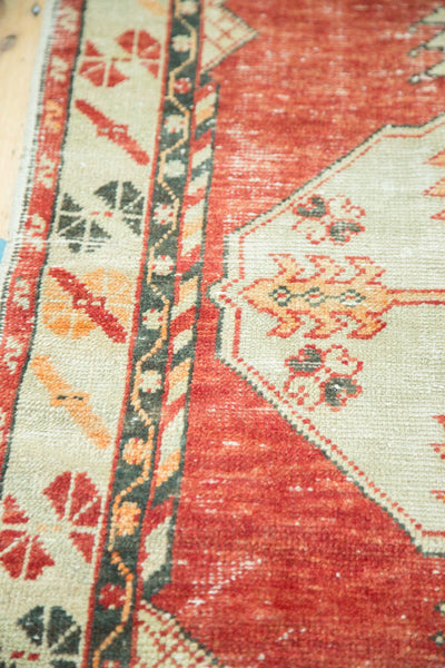 Vintage Distressed Oushak Rug / Item 4736 image 7