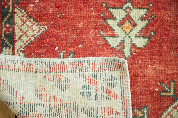 Vintage Distressed Oushak Rug / Item 4736 image 8