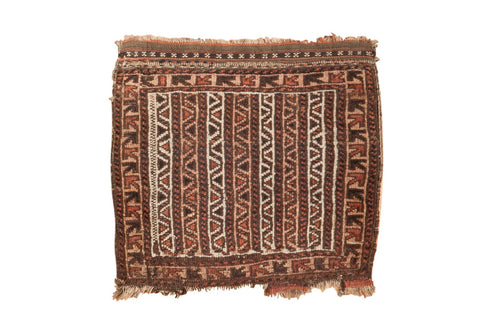 Vintage Belouch Bag Face Square Rug Mat