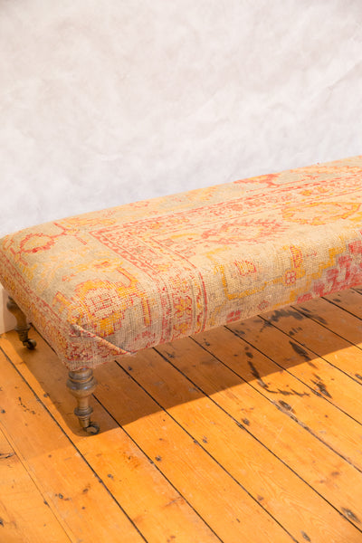 Extra Long Antique Turkish Rug Ottoman