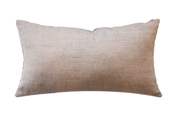 Reclaimed Remnant Blue and Cream Pillow