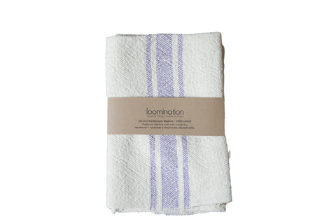 Handwoven in USA Loomination Napkin Set Lavender