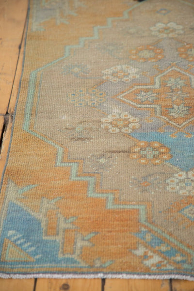 Vintage Distressed Oushak Rug Fragment