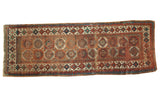 Antique Moghan Kazak Rug Runner