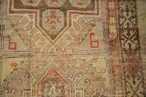 Vintage Distressed Anatolian Rug Runner