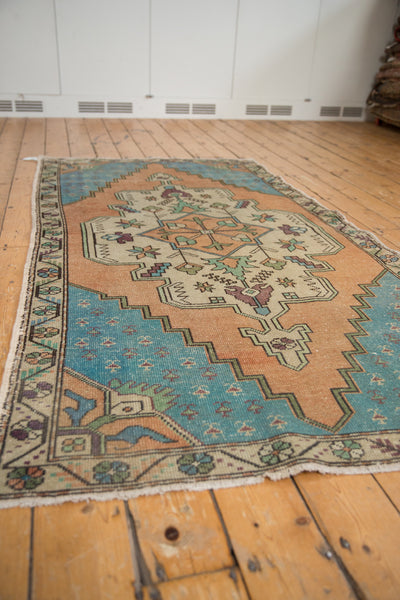 Vintage Distressed Oushak Rug Runner / Item 4851 image 3