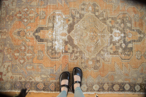 Vintage Distressed Oushak Rug / Item 4856 image 2