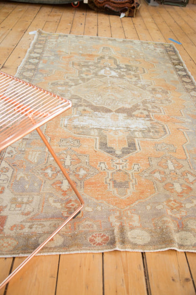 Vintage Distressed Oushak Rug / Item 4856 image 3